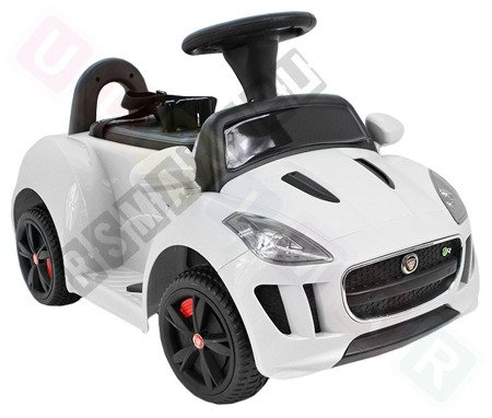 Vehicle battery Jaguar F-Type white