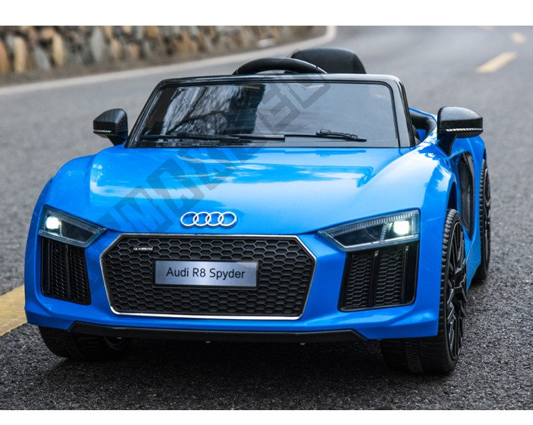 Auto Battery Audi R8 Spyder Pilot 2 4 G Blue Lacquered Electric