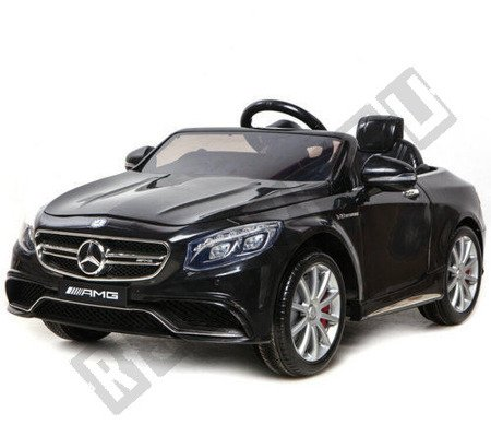 Auto battery Mercedes S63 AMG 12V black lacquered