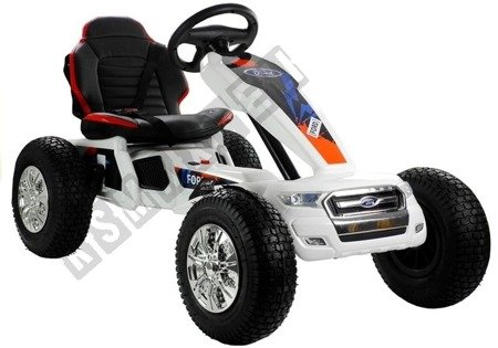 DK-G01 Electric Ride On Gocart - White