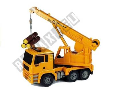 2.4G Remote-Controlled Crane Truck with Timber