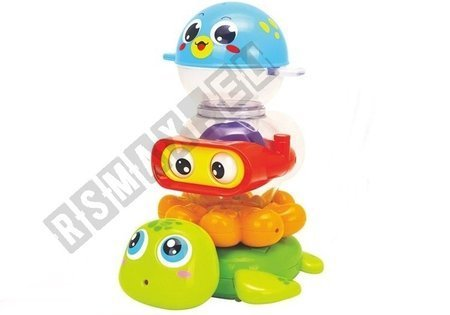 A set of bath toys consisting of 3 elements