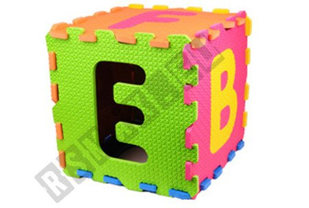 Big foam puzzle 26 items 30x30cm