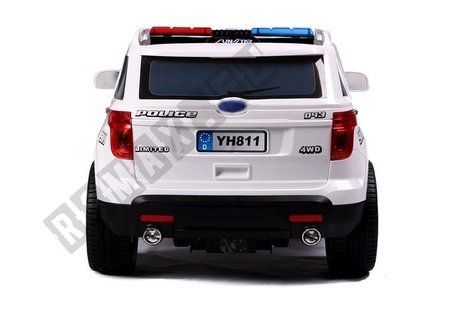 CH9935 Police Car White - Electric Ride On Car
