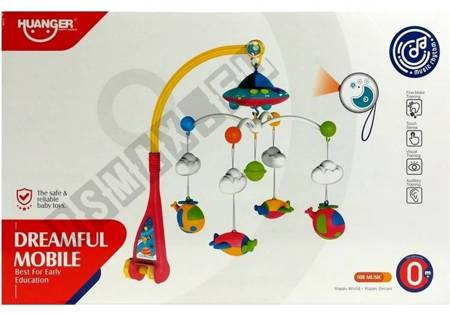 Carousel for Cots Baby Bed Accesory with Vehicles