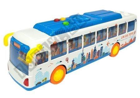 Colorful Friction Bus Lights Sounds Linda