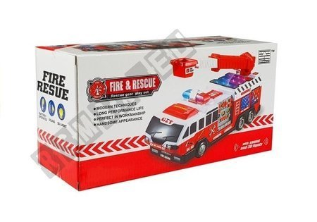 Fire Brigade Car with a Ladder Sounds and Lights