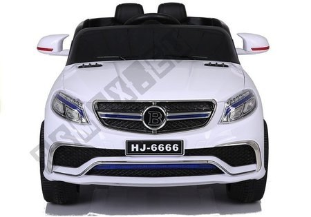HJ6666 White - Electric Ride On Car