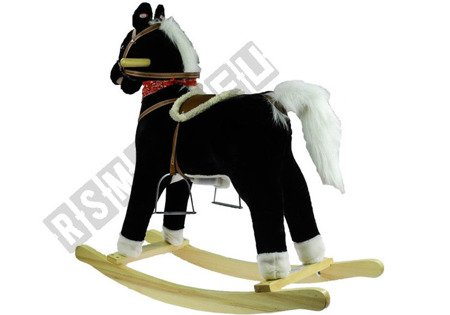 INTERACTIVE ROCKING ROCKING HORSE BLACK