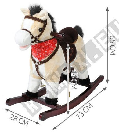 Interactive horse at the poles beige K4592 !