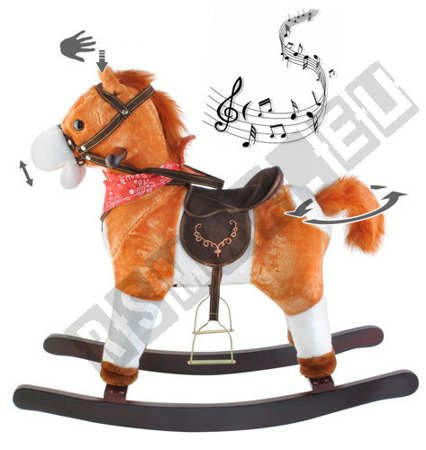 Interactive horse at the poles light brown K6028 !