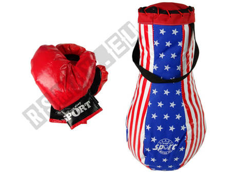 Kids Punch Bag Kit Childrens Mega Boxing Set + Gloves Boxing Bag Set 40 cm