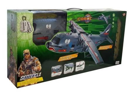 Large Military Aircraft with Accessories 75 cm