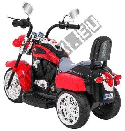 Motorbike battery Chopper NightBike red!