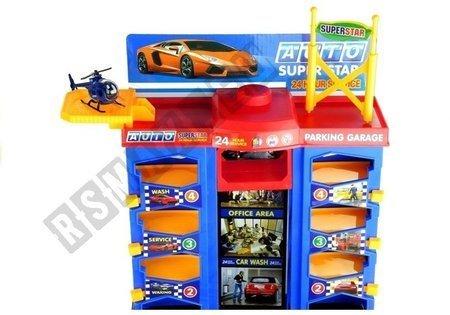 Multi Level Parking Garage 3 Cars Helicopter