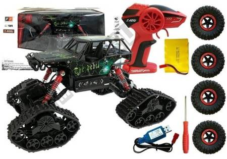 Offroad R/C Car 4x4 Black with Skull Pattern