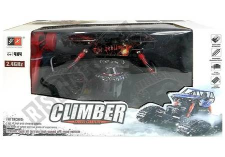 Offroad R/C Car 4x4 Red with Skull Pattern