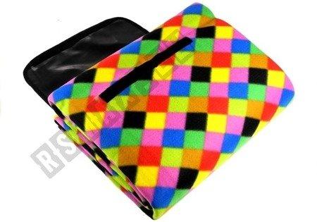 Picnic Blanket 150x200 Rainbow Square Mosaic