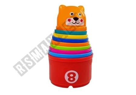 Pyramid Cups for Babies with Numbers