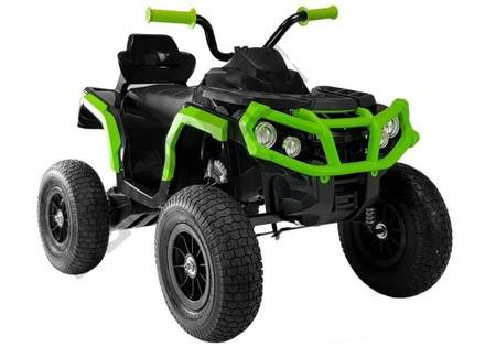 Quad BDM0906 Electric Ride On Vehicle Pumped Wheels - Black