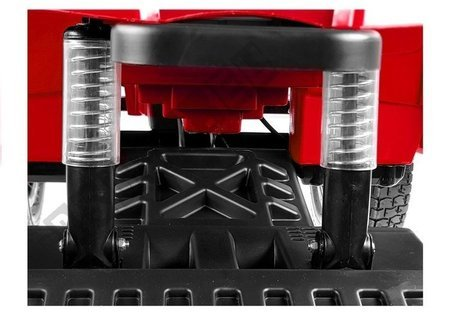 Quad BDM0906 Electric Ride On Vehicle Pumped Wheels - Red