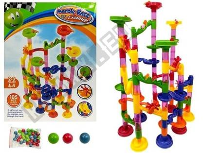 Race Track for Balls Marble Race Game