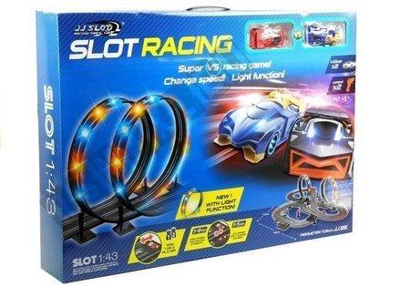 Racing Track 2 Cars Controllers Loop Lights Slot Cars