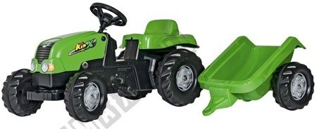 Rolly Kid pedal tractor with green trailer!