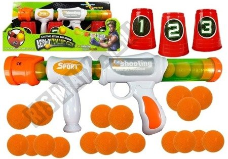 Soft Ball Gun Rifle Practice Your Aim Target Cups