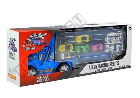 Sorter Truck with Die-cast Cars Accessories Blue