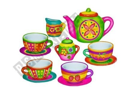 Tea Time Creative Set Cups for Painting DIY
