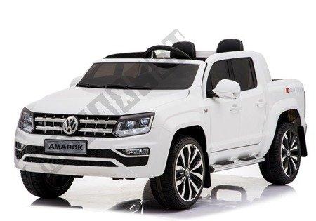 VW Amarok White + MP4 - Ride on Car