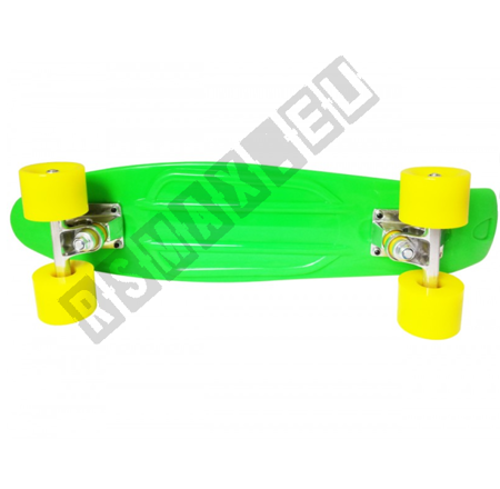 Deskorolka Rybka Fishboard Fiszka Zielono-Żółta