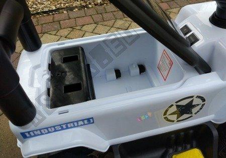 Fahrzeugbatterie mit Drücker weiß