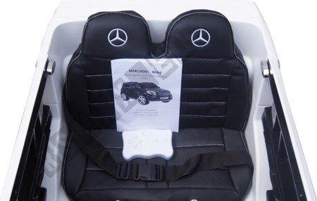 Auto auf Mercedes GL63 AMG Batterie weiß Leder