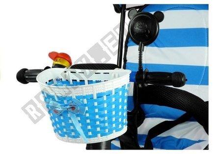 Dreirad PRO300 Blau EVA-Reifen Sonnendach Dreirad für Kind