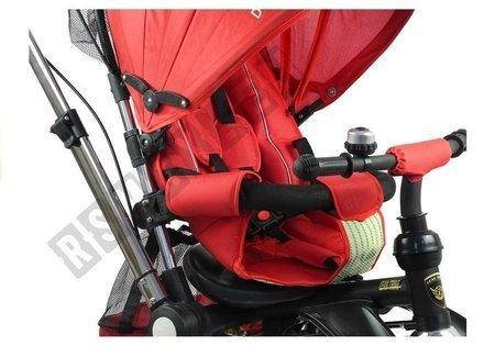 Dreirad PRO700 Rot Klingel 3-Punkt-Sicherheitsgurte Gummiräder Dreirad