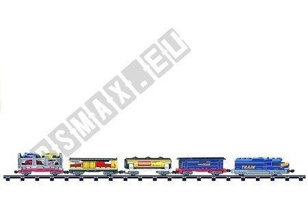 Eisenbahn 549cm Set 4 Autos Nebengleis Lok Spielzeug für Kinder 4+ Set
