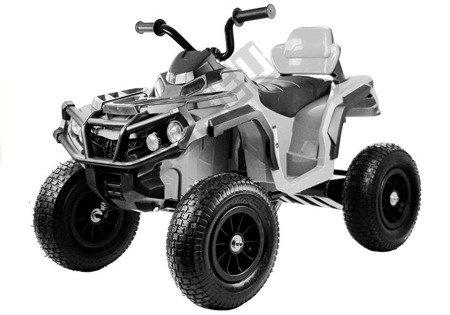 Elektro Quad BDM0906 Weiß Ledersitz 2x45W 3 Geschwindigkeiten Fahrzeug