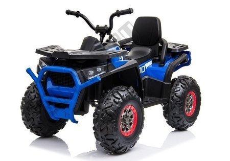 Elektro Quad XMX607 Blau Ledersitz EVA-Reifen LED Frontscheinwerfer 2x45W