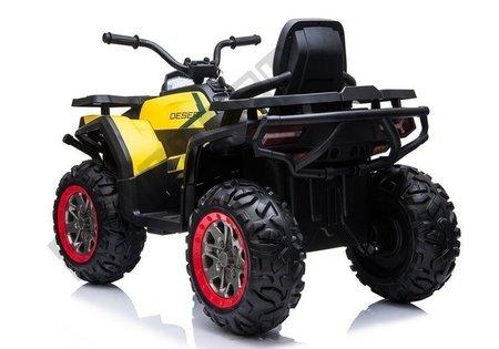 Elektro Quad XMX607 Gelb Ledersitz EVA-Reifen LED Frontscheinwerfer 2x45W