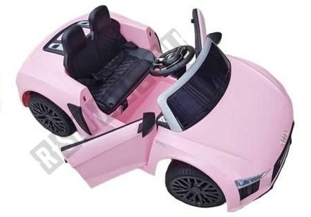 Elektroauto Audi R8 Rosa 2x45W Ledersitz EVA-Reifen Kinderfahrzeug