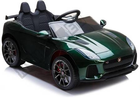 Elektroauto Jaguar F-Type Grün lackiert EVA-Reifen Ledersitz Auto