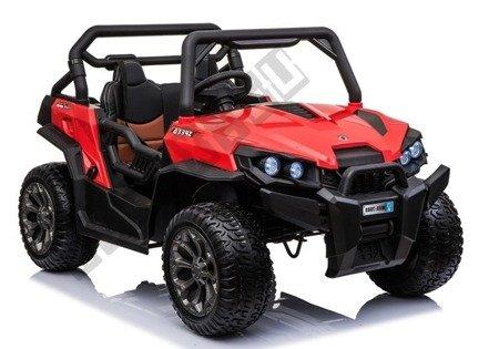 Elektroauto WXE-8988 Rot EVA-Reifen Ledersitz LED Frontscheinwerfer 2.4G Auto