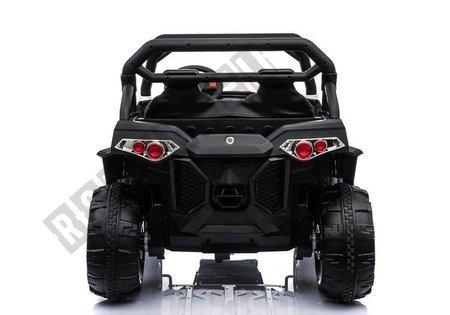Elektroauto WXE-8988 Weiß EVA-Reifen Ledersitz LED Frontscheinwerfer 2.4G Auto