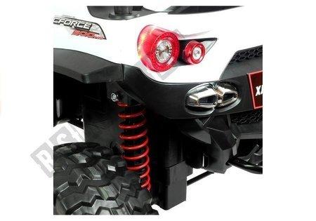 Elektroauto XJL-588 Weiß EVA-Reifen Ledersitz 4x45W LED Frontscheinwerfer