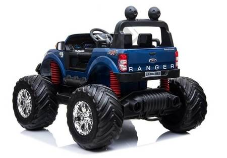 Ford Ranger Monster Blue Painting LCD - Electric Ride On Car