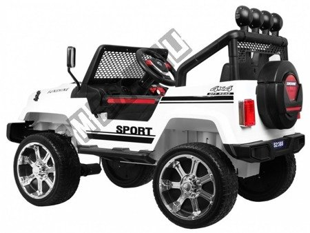 Große Kinderauto JEEP 4x4 OFF ROAD Elektroauto Kinderfahrzeug Weiß
