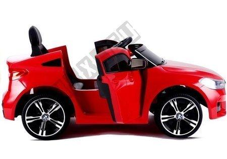 Kinderauto BMW 6 GT Rot Ledersitz EVA-Reifen LED Frontscheinwerfer 2x45W