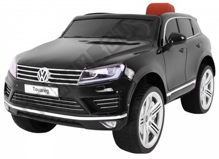 Kinderauto VW Touareg Elektroauto Kinderfahrzeug Ledersitz schwarz